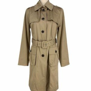 New York & Company Tan Trench Coat with Belt Med